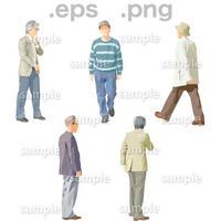シニアイラスト (EPS , PNG )   se_048