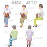シニアイラスト (EPS , PNG )   se_168