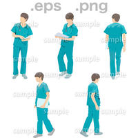 医師人物イラスト (EPS , PNG )   IS_001