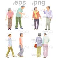 シニアイラスト (EPS , PNG )   se_117