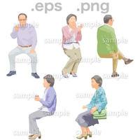 シニアイラスト (EPS , PNG )   se_177