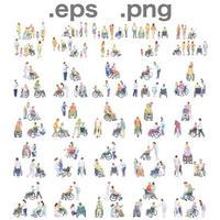 シニアイラスト (EPS , PNG ) セット  se_set09