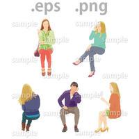 外国人イラスト (EPS , PNG )   gl_019