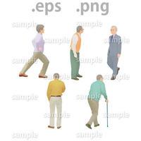シニアイラスト (EPS , PNG )   se_014