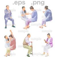 シニアイラスト (EPS , PNG )   se_254