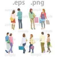 ファミリーイラスト (EPS , PNG )   fa_002