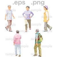 シニアイラスト (EPS , PNG )   se_136