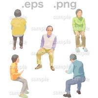 シニアイラスト (EPS , PNG )   se_183