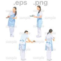 介護スタッフイラスト (EPS , PNG )   se_265