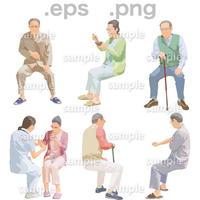 シニアイラスト (EPS , PNG )   se_253