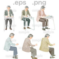 シニアイラスト (EPS , PNG )   se_058