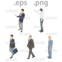 ビジネス人物イラスト (EPS , PNG )   bu_013