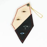 【コウボウコウメ】レザー眼玉キーホルダー だいきちくん IK-K04
