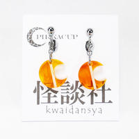 【PIRKACUP】コラボアクセ 怪談師イメージイヤリング(上間月貴Ver.) オレンジ IP-A08