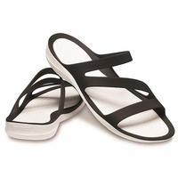 【crocs/サンダル】crocs/クロックス/スウィフトウォーター サンダル ウィメン(Black/ White) 【203998-066】