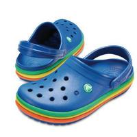 【crocs/サンダル】crocs/クロックス/クロックバンドレインボーバンドクロッグ(ブルー) 【205212-4GX】