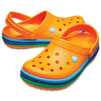 【crocs/サンダル】crocs/クロックス/クロックバンドレインボーバンドクロッグ(オレンジ) 【205212-800】