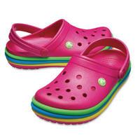 【crocs/サンダル】crocs/クロックス/クロックバンドレインボーバンドクロッグ(キャンディピンク) 【205212-6XO】