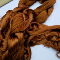 西陣織で使われている 経糸の残糸 茶色、着払発送