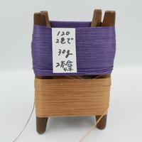 国産絹糸 江州だるま糸 西陣織で使われている手機用緯糸 木枠付き no.120