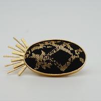 〈尊 MICOTO〉 帯留め1 SPUTNIK とげとげ紋様 黒
