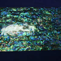 NZアワビ黒螺鈿箔Lサイズ シール加工で便利。はさみで切れます。