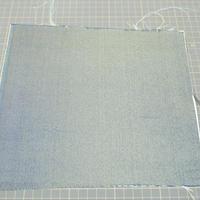 西陣売り 絹織物 こぎれ 紺地 無地 D 黄、水 絹100%