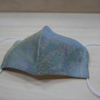西陣織 金襴 絹織物 マスク 葉脈紋様 絹100%