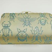 全正絹 西陣織 金襴 Insect 虫紋様 クラッチバッグD