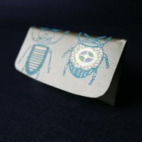 西陣織 虫紋様 名刺入れ 金襴を身近に 暮らしの中にきらりと光る一品を