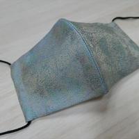 M 西陣織 金襴 絹織物 マスク 葉脈紋様 絹100%