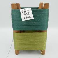 国産絹糸 江州だるま糸 西陣織で使われている手機用緯糸 木枠付き no.135
