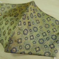 M 西陣織 金襴 絹織物 マスク 白茶地 正倉院紋様 G