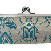 西陣金襴 正絹 仕切り付き がまぐち 虫紋様