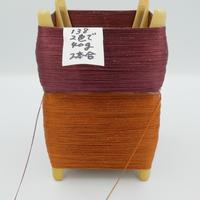 国産絹糸 江州だるま糸 西陣織で使われている手機用緯糸 プラスティック枠付き no.138