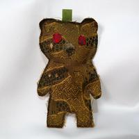 ニシジーナ 妖精くまポフ kumapuff  アフリカ紋様&宝尽くし紋様 一点もの