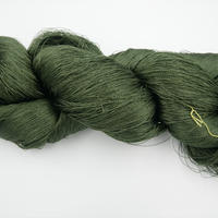 西陣織で使われている絹糸 綛糸(かせいと) 絹紡績糸 濃緑