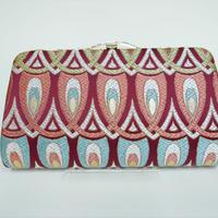 全正絹 西陣織 金襴 羽重ね紋様 クラッチバッグB