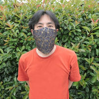 Singing Mask シンギング マスク 歌える西陣織マスク 葉脈紋様 受注生産方式