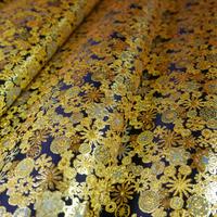 西陣織 金襴 絹織物 雪輪紋様 約一尺