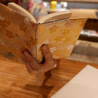 西陣織 ブックカバー 正絹 桜紋様 一点もの