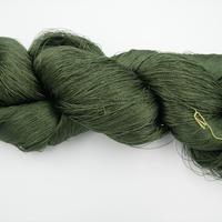 西陣織で使われている絹糸 綛糸(かせいと)21中8甘 濃緑