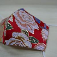 西陣織 金襴 絹織物 布マスク バラ紋様