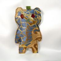 ニシジーナ 妖精くまポフ kumapuff  龍紋様 一点もの