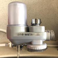 抗酸化力のある「素粒水」を作る浄水器 「塩」と「水」の健康セット お塩をプレゼント! 安心して飲める 元気で美味しい水! ワンウオーターECO  取り付け簡単 コンパクトな浄水器