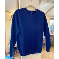 ripple洋品店 鹿の子編みコットンセーター(藍色)Mサイズ