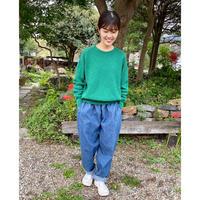 ripple洋品店 鹿の子編みコットンセーター(緑)Mサイズ
