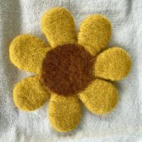 Fika*felt お花コースター 黄色