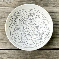 勝村顕飛×うれしいもの屋 葉っぱの上のらっこちゃん六寸鉢
