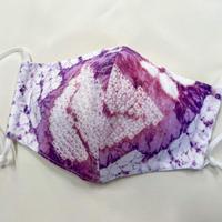 大人用マスク 212有松絞り浴衣地 紫×白